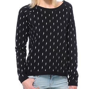 Vans Lighting Bolts Black Crew Neck Sweatshirt